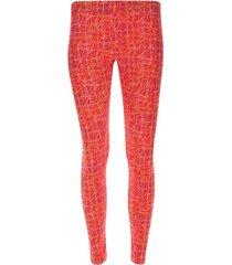 leggings rayas de colores color naranja, talla xs
