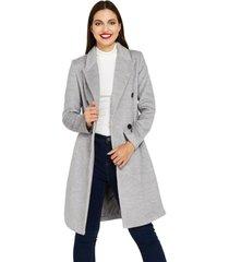 abrigo cuatro botones gris nicopoly