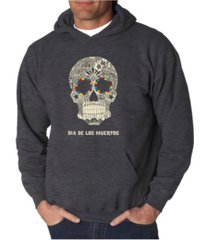 la pop art men's dia de los muertos word art hooded sweatshirt