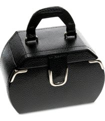 rhona sutton black miniature rounded jewelry case