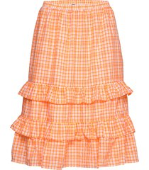 trudy skirt knälång kjol orange résumé