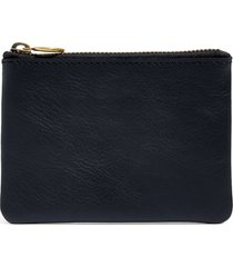women's madewell the leather pouch wallet - black