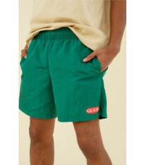 guess men's originals nylon logo shorts