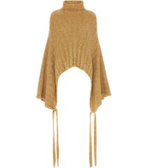 jw anderson kimono-sleeve knitted jumper - gold