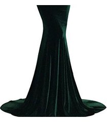 lemai mermaid off shoulder v neck long velvet prom evening dresses emerald green