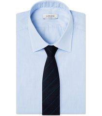 cravatta su misura, lanificio ermenegildo zegna, rigato blu e azzurro, autunno inverno | lanieri