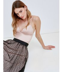 motivi top bustier in raso donna rosa