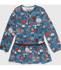 vestido azul-rojo-blanco boboli