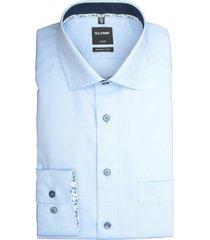 olymp overhemd met borstzak blauw 120854/11