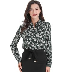 blusa otoño vintage verde nicopoly