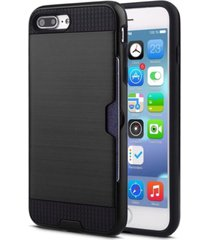 heave duty shockproof protective credit card holder wallet case iphone 7