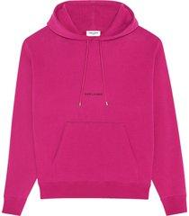 saint laurent hoodie in cotton