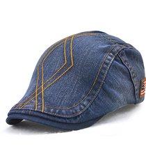 mens unisex vintage lavato cotone berretti cappello tempo libero  respirabile visiera curvato brim flat caps 7b3186526d0a