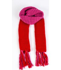 women's color block knit scarf