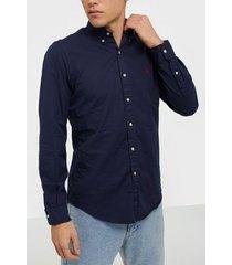 polo ralph lauren long sleeve sport shirt skjortor navy