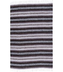 native yoga economy flaza mexican blanket dark brown cotton