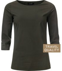 dayz bianca boothals top in travel stof groen