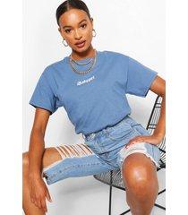 babygirl micro-slogan t-shirt, indigo