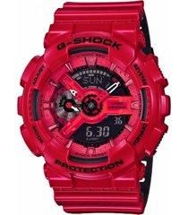 reloj g-shock modelo ga_110lpa_4a rojo hombre