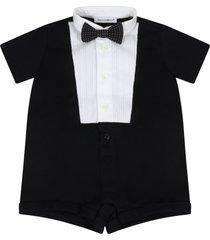 dolce & gabbana black romper for babyboy