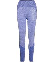 black elevate wave leggings running/training tights blauw famme