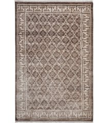 closeout! timeless rug designs locket s1127 champagne 5' x 8' rug
