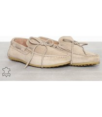 selected homme slhsergio drive suede shoe w loafers & slippers ljus brun