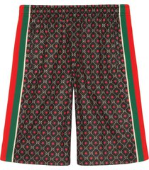gucci jersey shorts with gg star print - multicolour