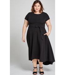 lane bryant women's lena high-low dress 18p black