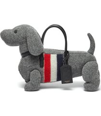 'hector' dachshund motif boiled wool tote