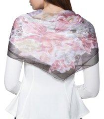 giani bernini logo botanical square scarf