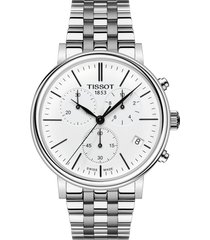 tissot carson premium chronograph bracelet watch, 41mm