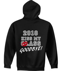 class of 2018 - hoodie - pullover - hooded pullover - adult sizes s-2xl