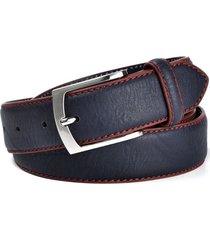 cinturon clasico lujo hombre casual cuero 125cm p038 azul
