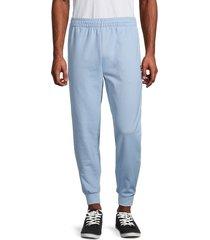 fila men's iconic logo cotton-blend jogger pants - director blue - size s