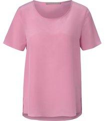 shirt van 100% zijde met korte mouwen van (the mercer) n.y. lichtroze