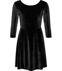 abito in velluto (nero) - bodyflirt