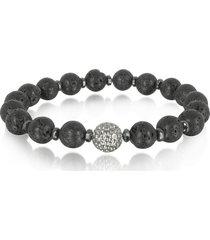 blackbourne designer men's bracelets, lava small stone men's bracelet w/brass golf ball