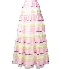 delpozo full layered skirt - pink