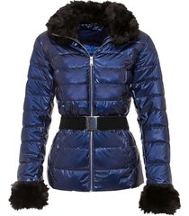giacca con ecopelliccia (blu) - bodyflirt boutique