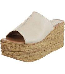 sandalia de cuero natural fionna flotter