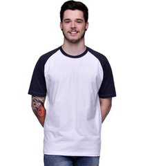camiseta raglan básica com manga preta 100% algodão di nuevo masculina - masculino