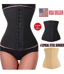 corset body shaper nylon rubber waist trainer cincher underbust black shapewear