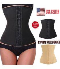corset body shaper nylon rubber waist trainer cincher underbust black shapewear