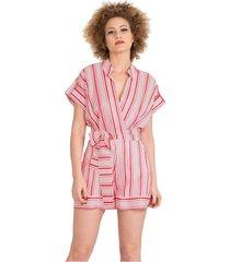 short striped jumpsuit