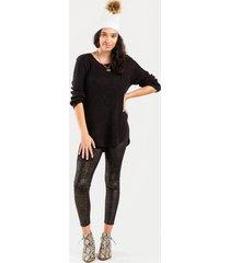 bailey high shine velvet leggings - black
