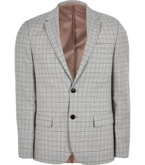 river island mens big and tall grey check slim fit suit jacket