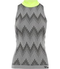 hmlwera seamless top t-shirts & tops sleeveless grå hummel