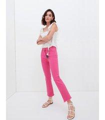 pantaloni cropped con pendaglio nappa