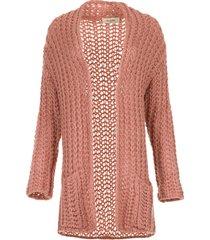 grofgebreid vest charly  roze